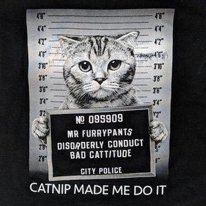 Cat Mug Shot Funny Tshirt